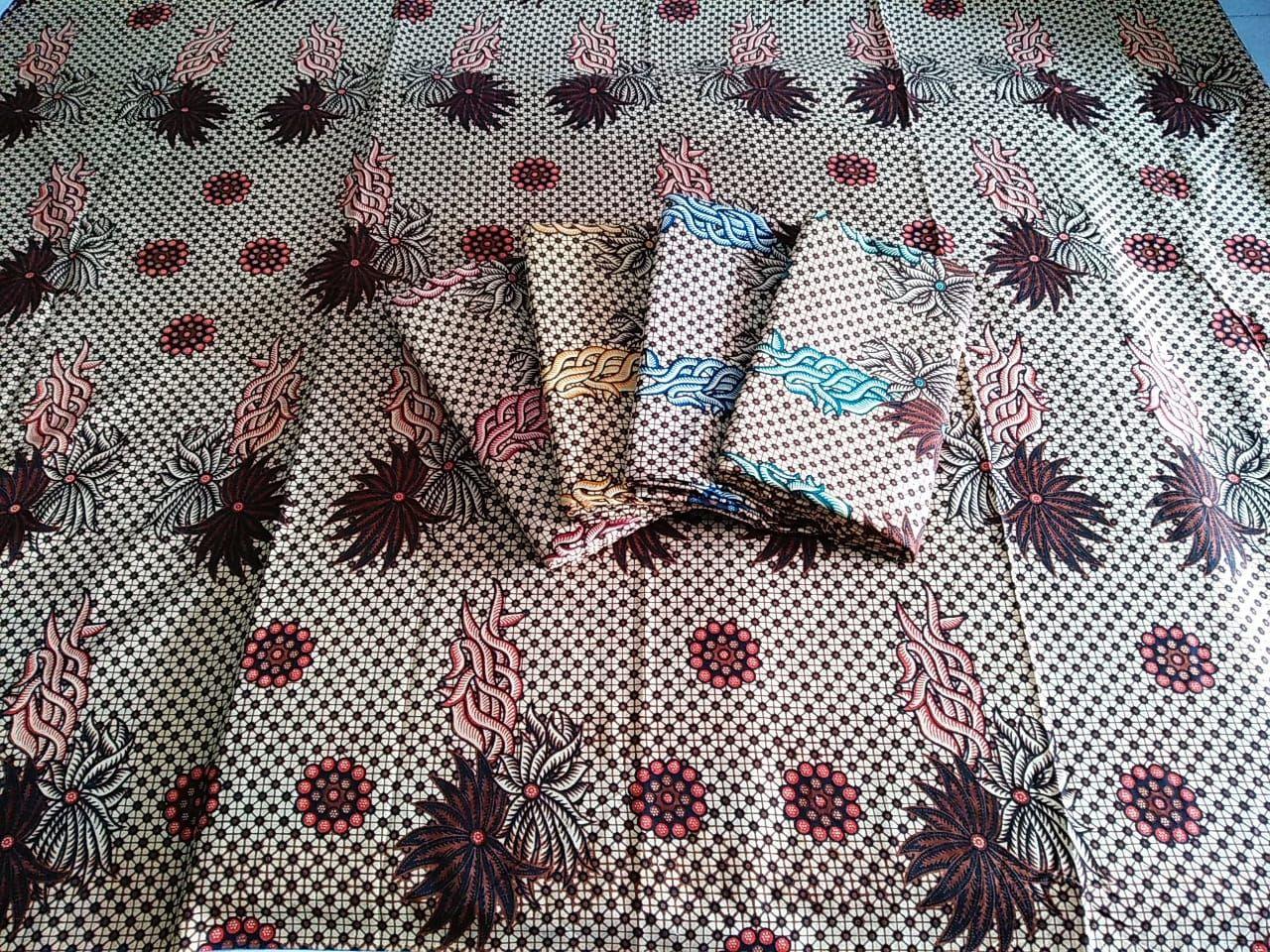 kain batik motif sogan berbagai pilihan warna