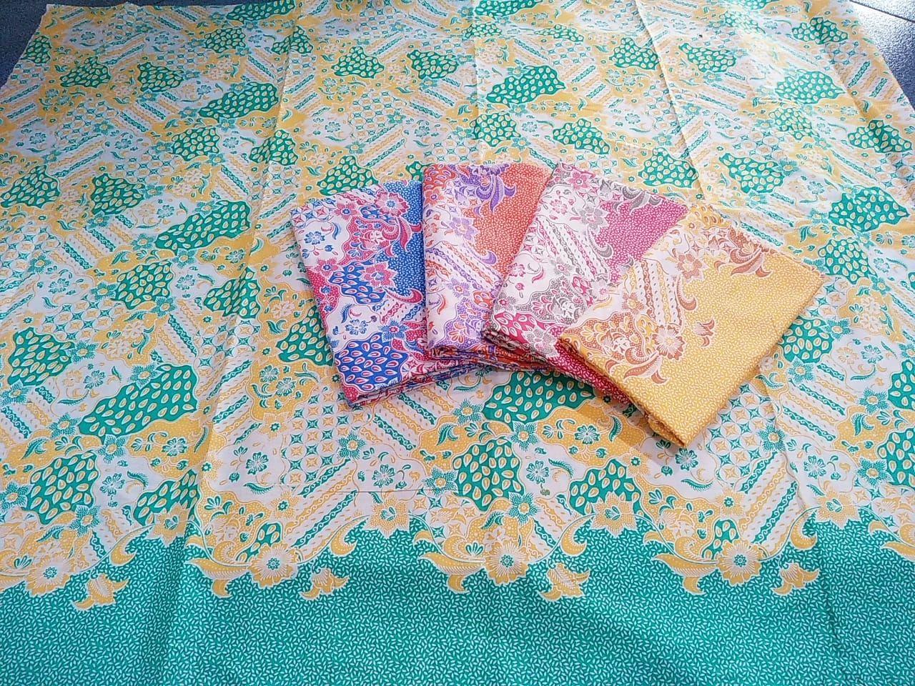 kain batik warna soft