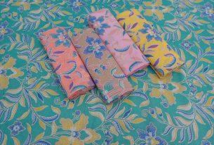 kain batik pekalogan warna pastel
