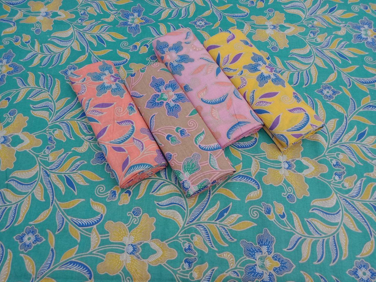 Kain Batik Pekalongan Motif Bunga Warna Pastel – P3-9
