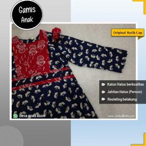 gamis batik cap anak