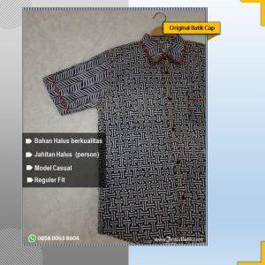 baju batik pria motif benji kombinasi