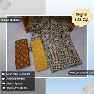 batik cap motif kawung kombinasi truntum