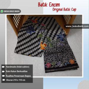 batik encim hitam motif parang kecil