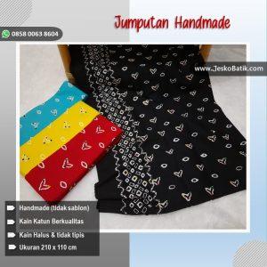 kain batik cap corak jumputan warna hitam