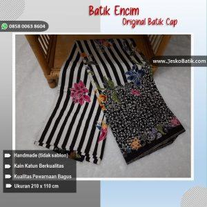 kain batik encim motif garis kombinasi
