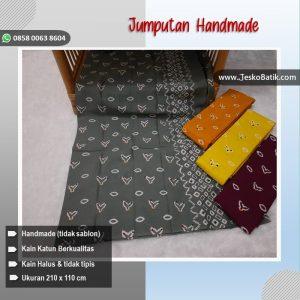 kain batik motif jumputan warna warni