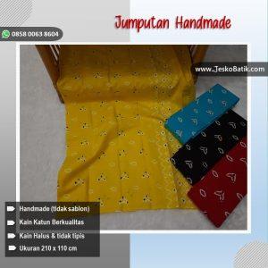 motif kain batik jumputan warna kuning