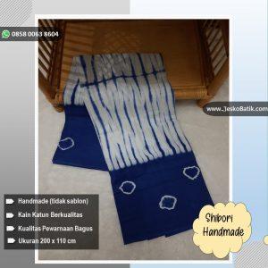 shibori motif garis kombinasi jumputan handmade