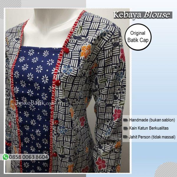 kebaya blouse motif truntum kombinasi