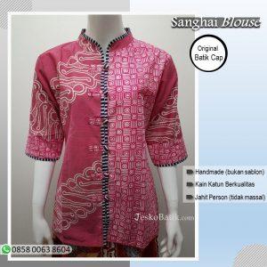 baju batik wanita warna pink