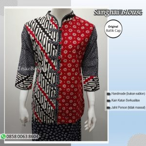 baju batik wanita motif parang kombinasi truntum
