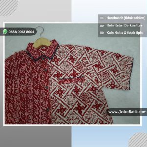 baju hem batik merah putih